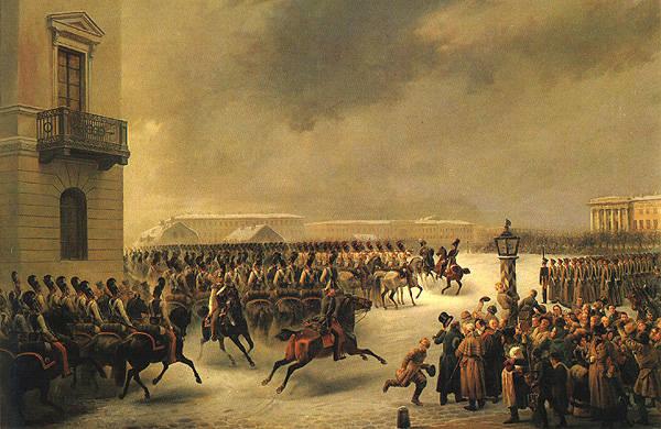 восстание декабристов на сенатской площади 14 декабря 1825 года.